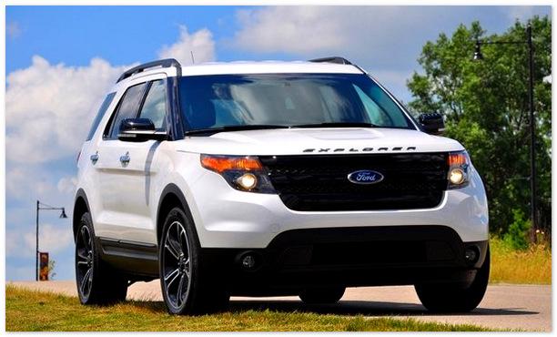 Фото белого Ford Explorer 2014