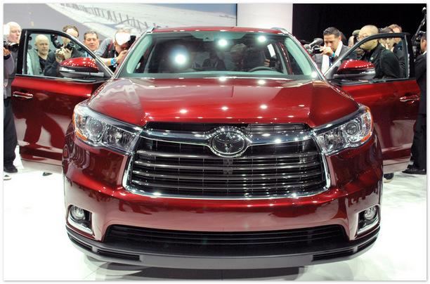 Фото бампера Toyota Highlander 2014 года