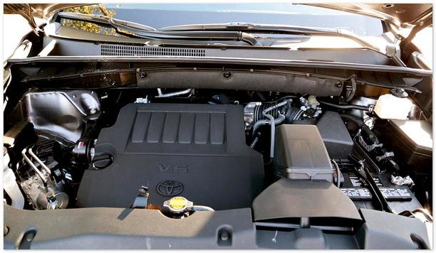 Фото двигателя V6 Toyota Highlander 2014