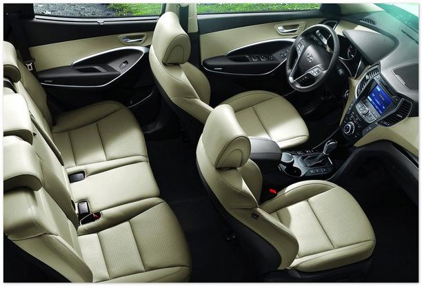 Фото салона Hyundai Santa Fe 2013 года