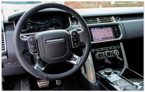 Руль и приборная панель Range Rover