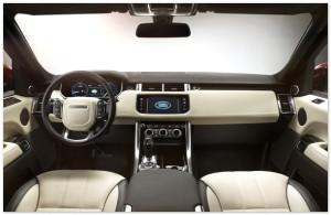 Салон Range Rover спереди