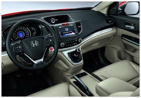 Фото приборной панели Honda CR-V 2014