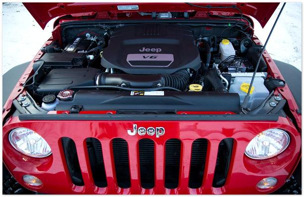 фото двигателя Джип Рэнглер Рубикон 2014