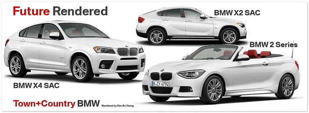 сравнение BMW X2, БМВ X4 и БМВ 2-ой серии