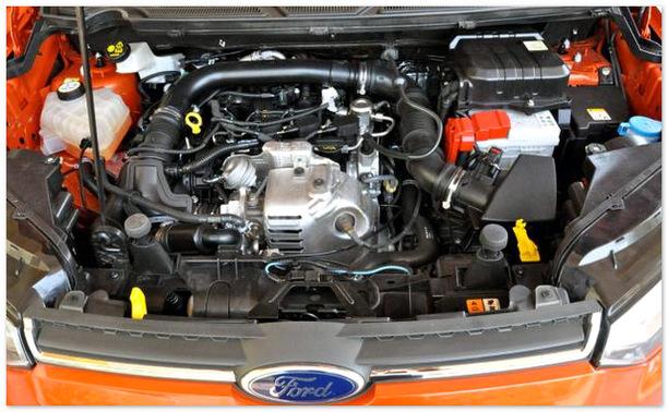 фото двигателя Форд Экоспорт 2014