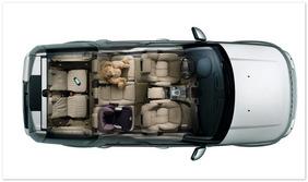 фото салона Land Rover Discovery 4 (вид сверху)