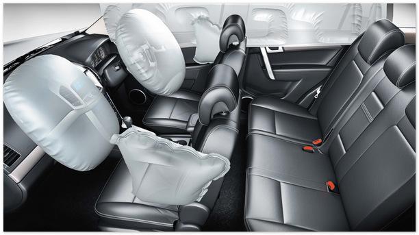 безопасность салона Chevrolet Captiva 2014