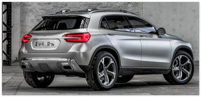 Mercedes GLA  (вид сзади)