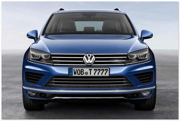 фото Volkswagen Touareg 2015 (вид спереди)